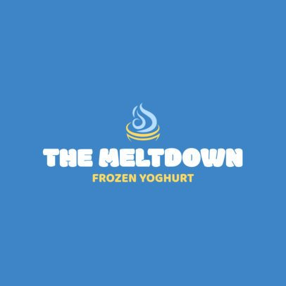 Frozen Yogurt Logo Maker Blue Theme 1241e