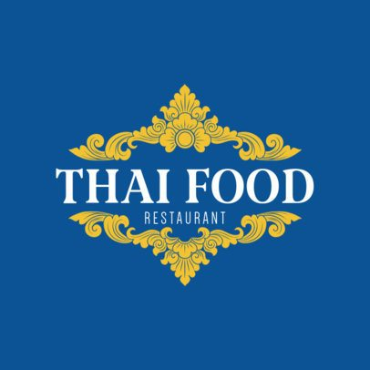 Online Logo Templates for a Thai Chef with Thai Patterns 1220e