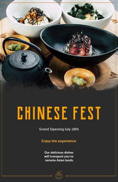 Flyer Maker for a Gourmet Chinese Restaurant 363e
