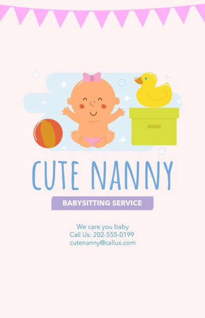 Flyer Maker for Nannies with Illustrations 343a