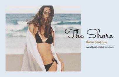 Horizontal Flyer Maker for Bikini Boutiques 367c