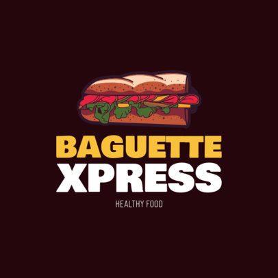 Online Logo Maker with Sandwich Clipart 1230a