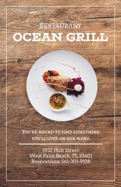 Online Flyer Maker for Seafood Grills 361b
