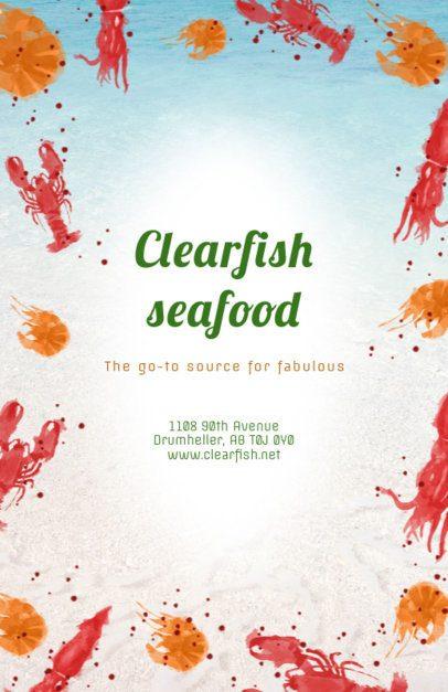 Flyer Maker for Seafood Restaurants with Lobster Illustrations 392 b