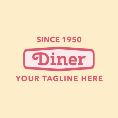 Online Logo Maker for Diners with 70s Design 1229b