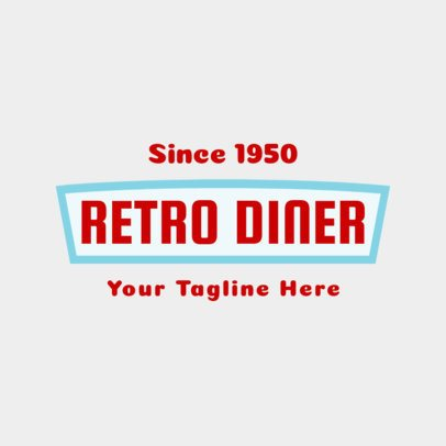 Logo Maker for Diners with Retro Style 1229d