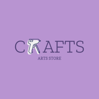 Online Logo Maker for Craft Stores with Art Tool Icon 1275d