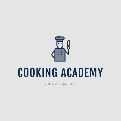 Chef Logo Maker for Cooking Academies 1299