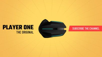 Online Banner Maker for Gaming Channels with Mouse Image 407d