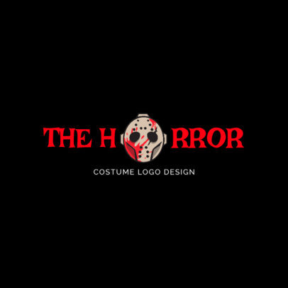 Creepy Halloween Logo Maker 1305b
