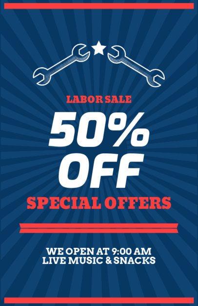 Labor Day Super Sale Flyer Template 429a