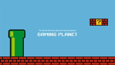 Gaming Planet Channel Banner Design Maker 456c
