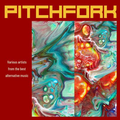 Cool Alternative Album Cover Design Template 467 a