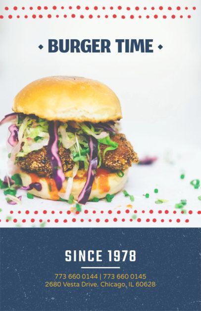 Online Flyer Maker for Veggie Burger Restaurants 416c