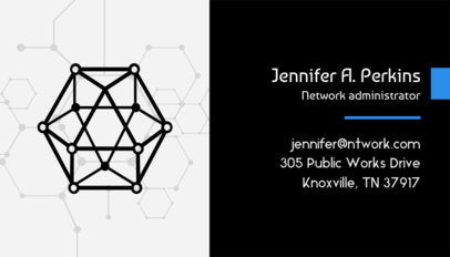 Network Administrator Business Card Maker 513f