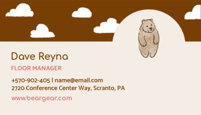 Clothing Brand Manager Business Card Maker 501a
