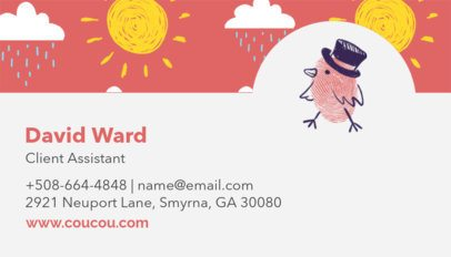 Kids' Clothing Brand Business Card Template 501c