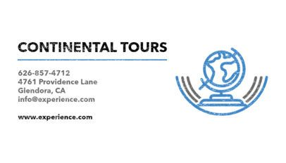 Business Card Maker for Continental Tours 487b