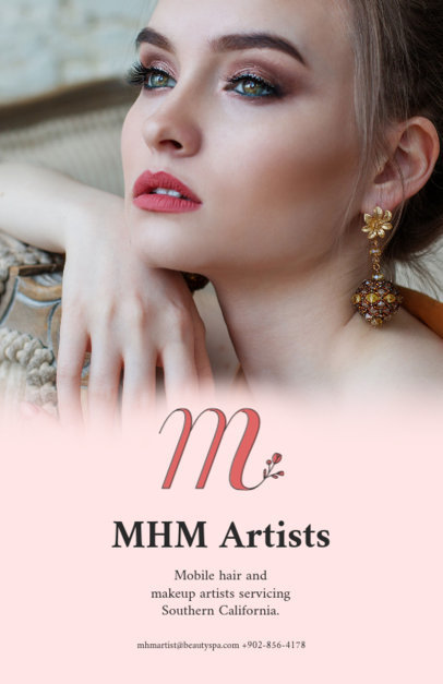 Flyer Design Template for Beauty Shop 486 e