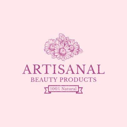 Artisanal Beauty Brand Logo Design Maker 1192a