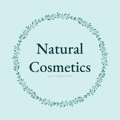 Natural Cosmetics Logo Maker with Leaf Frames 1383d