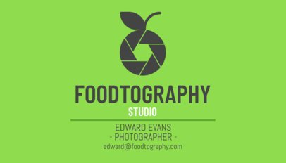 Food Photography Business Card Template 507d