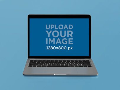 Front Shot Mockup of a MacBook on a Solid Color Surface 22362