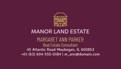 Real Estate Consultant Business Card Maker 499c-1877