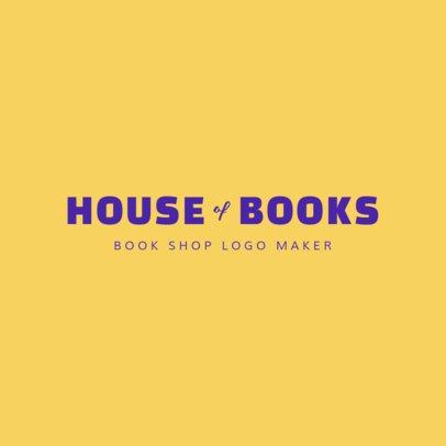 Online Logo Maker for Bookstores 1354d