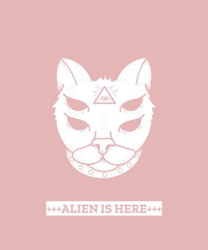 Cat Face T-Shirt Design Maker 445f