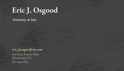 Business Card Creator for Attorney at Law 566a