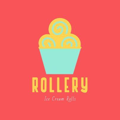 Ice Cream Shop Logo Maker with Vibrant Colors 1399b