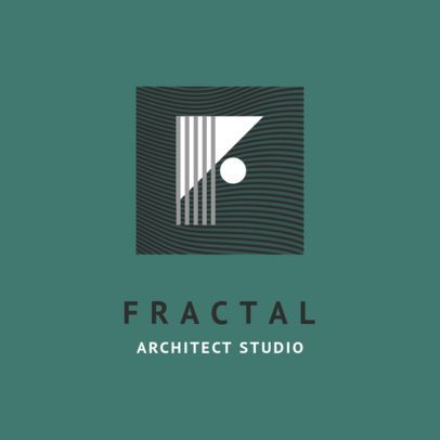 Architecture Office Logo Template with Geometric Shapes 1420d