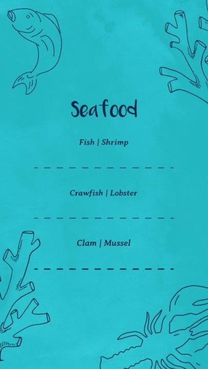Sea Food Restaurant Instagram Story Maker 584d