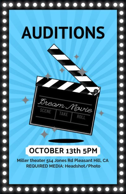 Movie Auditions Casting Flyer Template 422a