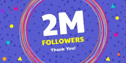 Twitter Post Maker for 2M Followers Thank You Message 613b