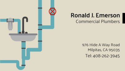 Business Card Creator for Commercial Plumbers 660d