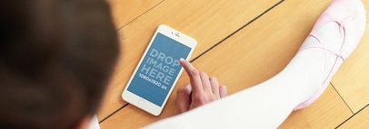 iPhone 6 Mockup Featuring a Girl at Ballet Class
