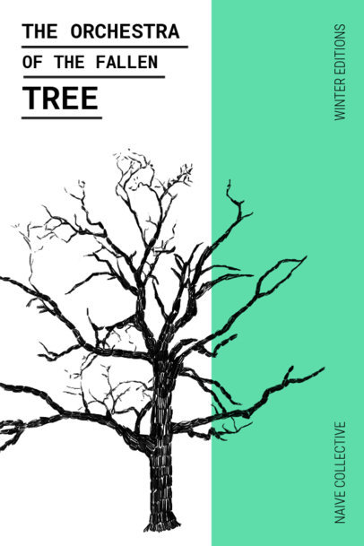 Poetry Book Cover Maker with Tree Graphics 529c