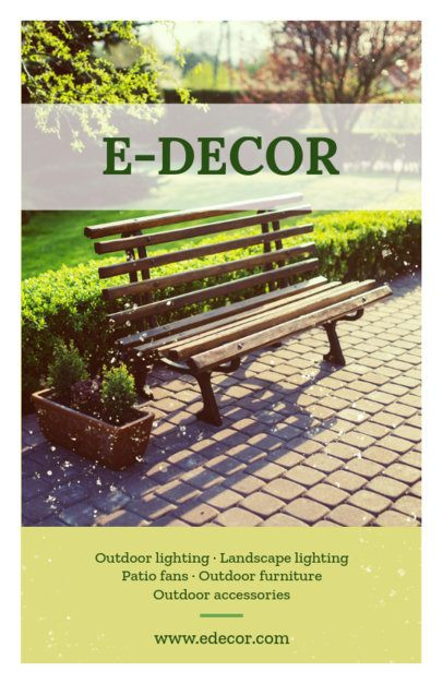 Landscaping Decoration Flyer Template 697a