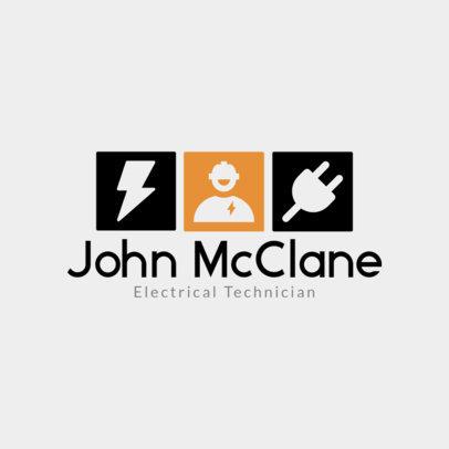 Electrical Technician Logo Design Template 1477c