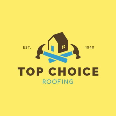 Roof Renovators Logo Design Template 1481a
