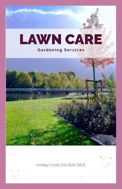 Flyer Maker for a Gardening Services Business 697e
