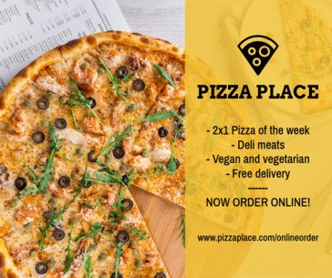 FB Post Template for Pizza Place 673c