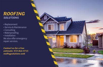 Horizontal Roof Solutions Flyer Template 735e