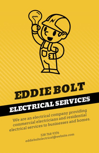 Flyer Template for an Electrical Services Business 728c