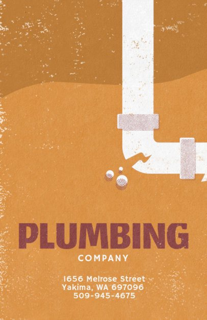 Plumbing Company Flyer Creator 710a