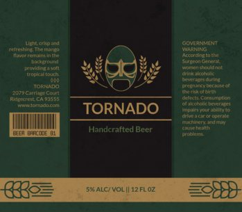 Lucha Themed Beer Label Template 765