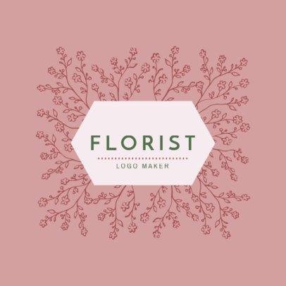 Custom Logo Maker for Floral Designers 1270b