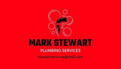 Plumbing Services Business Card Generator 664e